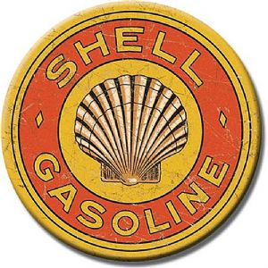 Shell 20s Logo round fridge magnet  75mm diameter  (de)